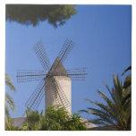 Molino de viento, Palma, Mallorca, España Teja