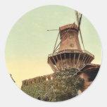 Molino de viento, Potsdam, Berlín, Alemania Pegatinas Redondas