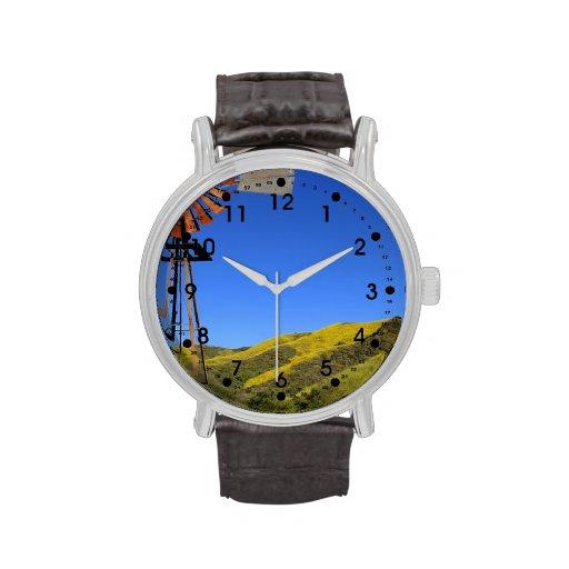 Molino de viento reloj