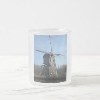 Molino de viento taza de cristal