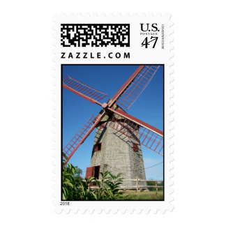 Molino de viento viejo timbre postal