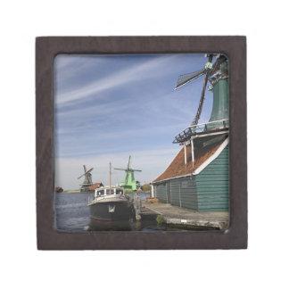 Molino de viento, Zaanse Schans, Holanda, Países B Caja De Joyas De Calidad