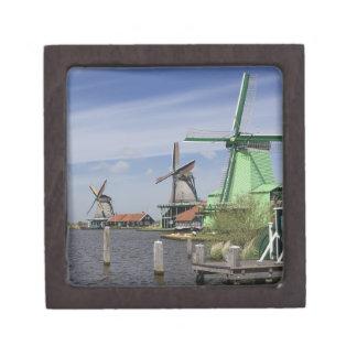 Molino de viento, Zaanse Schans, Holanda, Países B Caja De Recuerdo De Calidad