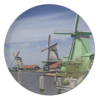 Molino de viento, Zaanse Schans, Holanda, Países B Platos De Comidas