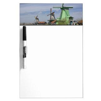 Molino de viento, Zaanse Schans, Holanda, Países B Tableros Blancos