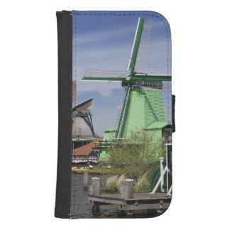 Molino de viento, Zaanse Schans, Holanda, Países Funda Tipo Billetera Para Galaxy S4