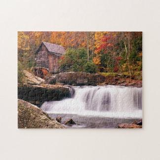Molino del grano para moler de la cala del claro puzzle con fotos