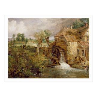 Molino en Gillingham, Dorset, 1825-26 (aceite en l Tarjeta Postal