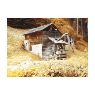 Molino viejo de Mountina Lona Estirada Galerías