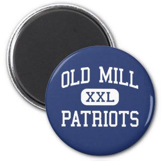 Molino viejo - patriotas - alto - Millersville Mar Imán Redondo 5 Cm