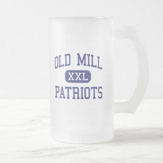 Molino viejo - patriotas - alto - Millersville Taza Cristal Mate