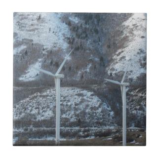 molinoes de viento azulejo ceramica