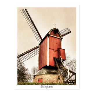 Molinoes de viento belgas tarjetas postales