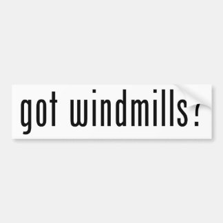 ¿molinoes de viento conseguidos? etiqueta de parachoque