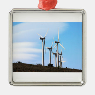Molinoes de viento de California Adorno Navideño Cuadrado De Metal