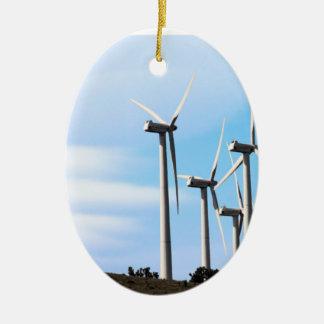 Molinoes de viento de California Adorno Navideño Ovalado De Cerámica