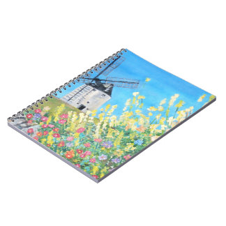 Molinoes de viento de Consuegra en el cuaderno de