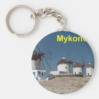 Molinoes de viento de Grecia Mykonos (Aggel) Llavero