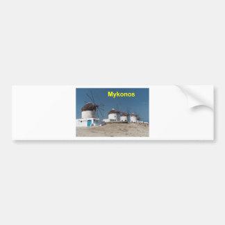 Molinoes de viento de Grecia Mykonos (Aggel) Pegatina Para Auto