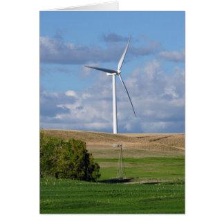 Molinoes de viento de Kansas Tarjeta Pequeña