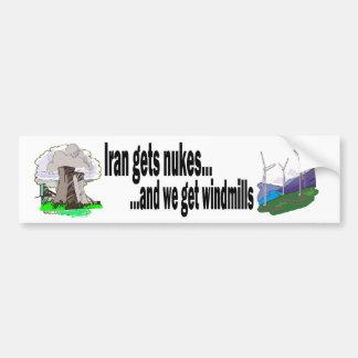 Molinoes de viento de las Lucha-Armas nucleares v. Pegatina Para Auto
