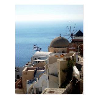 Molinoes de viento de Santorini Postal