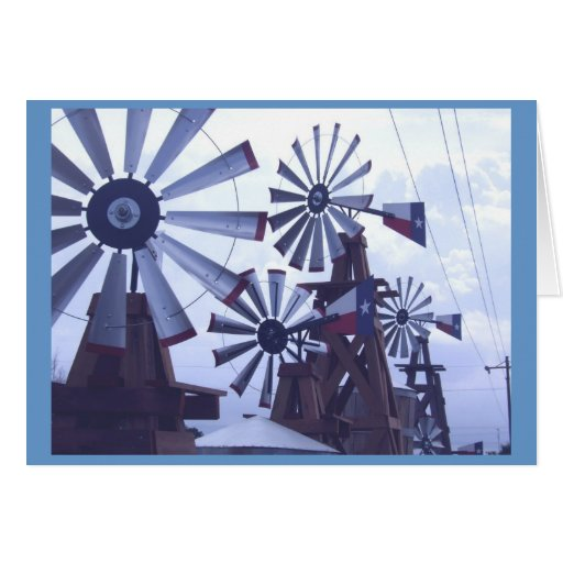 Molinoes de viento de Tejas Tarjetas