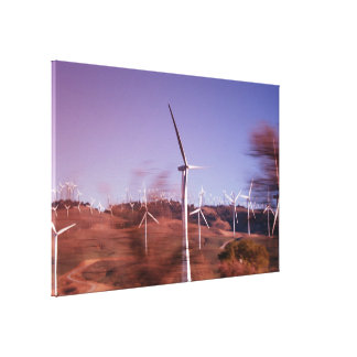 Molinoes de viento en el movimiento impresiones de lienzo
