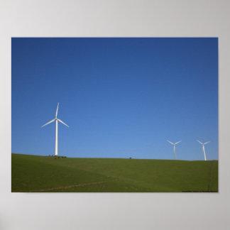 Molinoes de viento en el paso de Altamont, Califor Póster