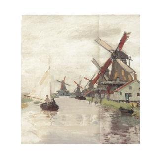 Molinoes de viento en Holanda de Claude Monet Libreta Para Notas