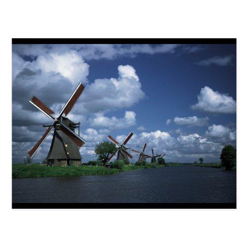 Molinoes de viento en Holanda Postales