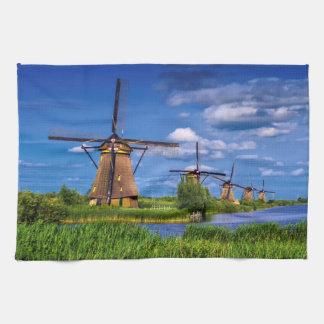 Molinoes de viento en Kinderdijk, Holanda, Países Toallas De Mano