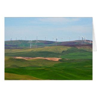 Molinoes de viento en las colinas de Palouse de la Tarjeta De Felicitación