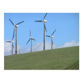 Molinoes de viento en los 580 postal