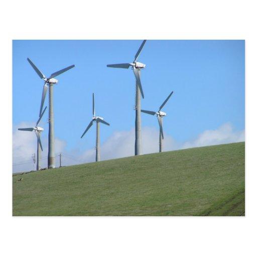 Molinoes de viento en los 580 tarjeta postal