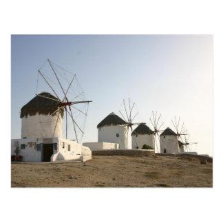 Molinoes de viento en Mykonos Postal