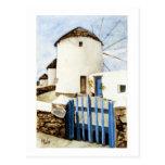 Molinoes de viento griegos postales