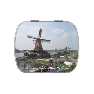 Molinoes de viento Holanda de Zaanse Schans Frascos De Caramelos