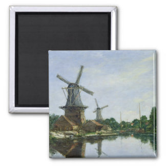 Molinoes de viento holandeses, 1884 imán cuadrado