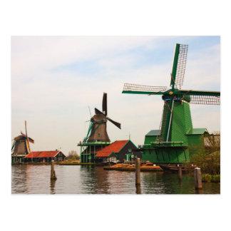 Molinoes de viento holandeses, Zaanse Schans. Postal