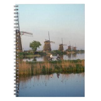Molinoes de viento, Kinderdijk, Países Bajos Libreta Espiral