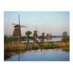Molinoes de viento, Kinderdijk, Países Bajos Tarjetas Postales