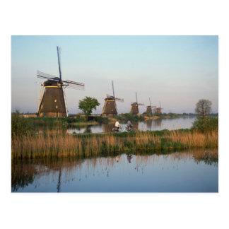 Molinoes de viento Kinderdijk Países Bajos Tarjetas Postales
