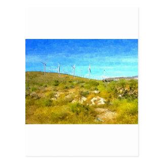 Molinoes de viento modernos tarjeta postal