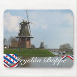 Molinoes de viento Mousepad de Fryslân Boppe Dokku Tapetes De Raton