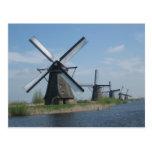 Molinoes de viento tarjeta postal