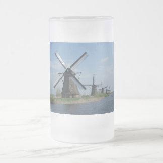 Molinoes de viento taza de cristal