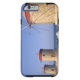 Molinoes de viento viejos famosos de Rodas Grecia Funda De iPhone 6 Tough