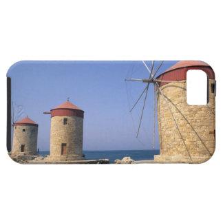 Molinoes de viento viejos famosos de Rodas Grecia iPhone 5 Carcasa