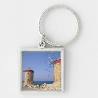 Molinoes de viento viejos famosos de Rodas Grecia Llavero Personalizado
